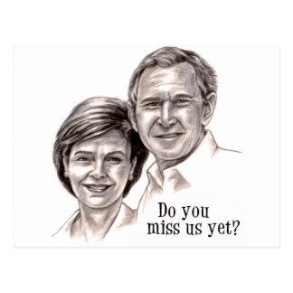 George u. Laura Postkarte