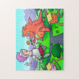 George und die Drache-Laubsäge Puzzle