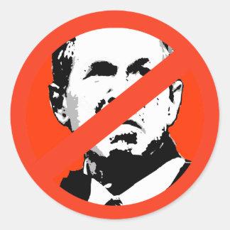 George W Bush 3 Runder Sticker