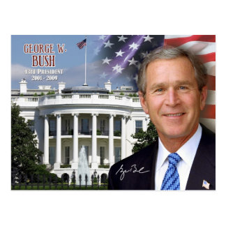 George W. Bush - 43. Präsident der US Postkarte
