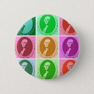George Washington abstrakt Runder Button 5,1 Cm