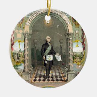 George Washington als Freimaurer Keramik Ornament