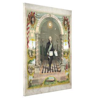 George Washington als Freimaurer Leinwanddruck