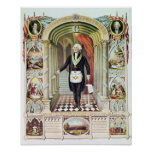 George Washington als Freimaurer Plakate