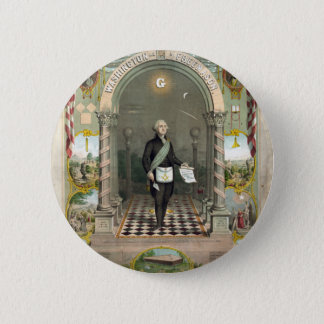 George Washington als Freimaurer Runder Button 5,7 Cm