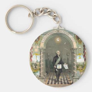 George Washington als Freimaurer Schlüsselanhänger