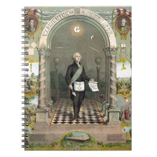George Washington als Freimaurer Spiral Notizblock