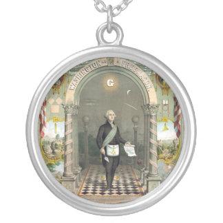 George Washington als Freimaurer Versilberte Kette