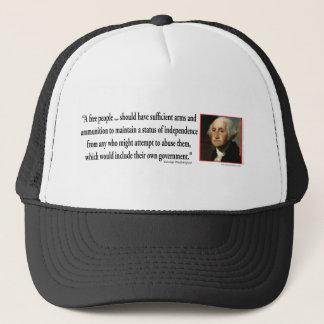 George Washington auf Gewehr-Rechten Truckerkappe