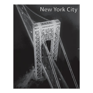 George Washington-Brücke New York City Poster