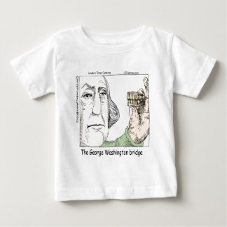 George Washington-Brücke u. Gebiss-lustiges Baby T-shirt