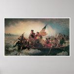 George Washington, der das Delaware kreuzt Poster