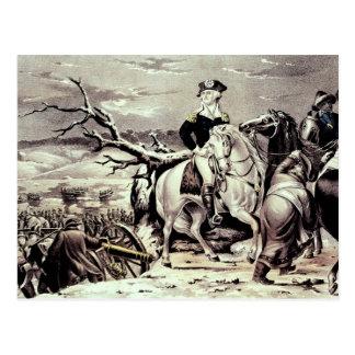 George Washington, der das Delaware kreuzt Postkarte