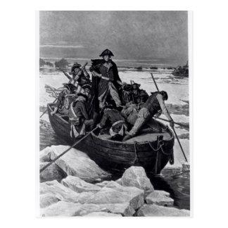George Washington, der den Delaware River kreuzt Postkarte