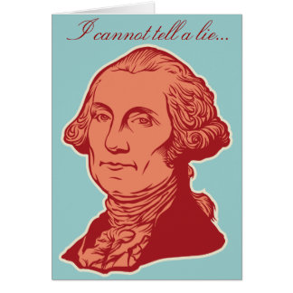 George Washington-Geburtstags-Karte