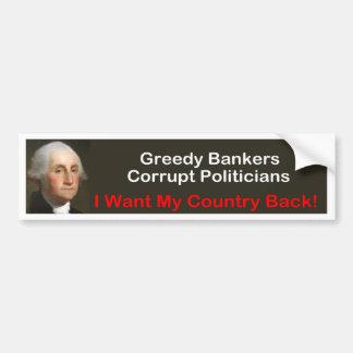 George Washington: Ich will meine Landrückseite! Autoaufkleber