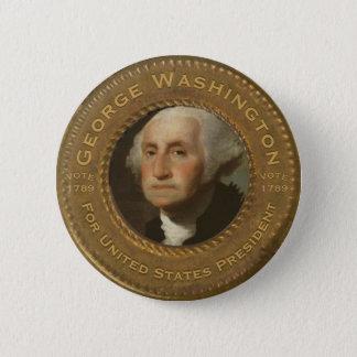 George Washington-Kampagnen-Knopf Runder Button 5,7 Cm