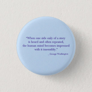 George Washington-Knopf Runder Button 2,5 Cm