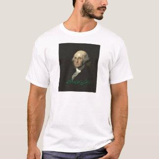 George Washington mit Autogramm T-Shirt