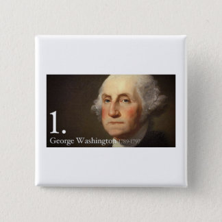 George Washington Quadratischer Button 5,1 Cm