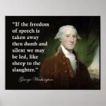 George Washington-Redefreiheit Zitat-Druck Plakatdruck
