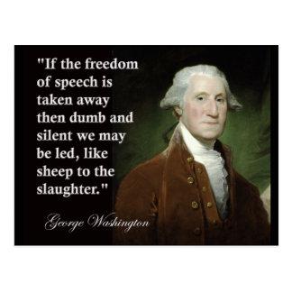 George Washington-Redefreiheit Zitat Postkarte