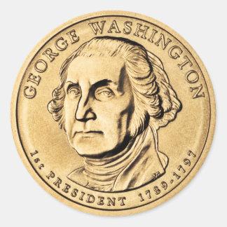 George Washington Runder Aufkleber