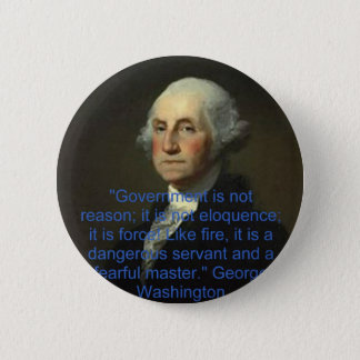 George Washington Runder Button 5,7 Cm