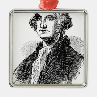 George Washington Silbernes Ornament