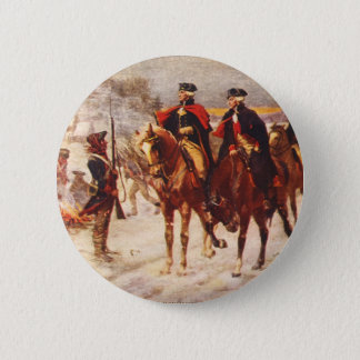 George Washington und Lafayette an der Runder Button 5,1 Cm