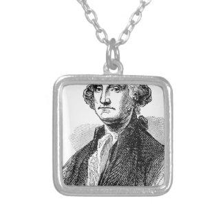 George Washington Versilberte Kette