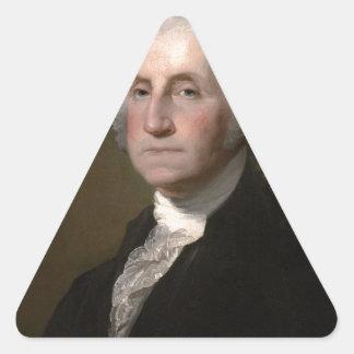 George Washington - Vintages Kunst-Porträt Dreieckiger Aufkleber