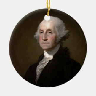 George Washington - Vintages Kunst-Porträt Keramik Ornament