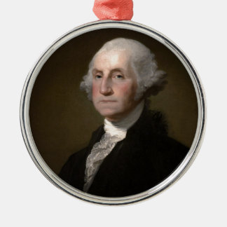 George Washington - Vintages Kunst-Porträt Silbernes Ornament