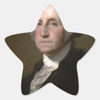 George Washington - Vintages Kunst-Porträt Stern-Aufkleber