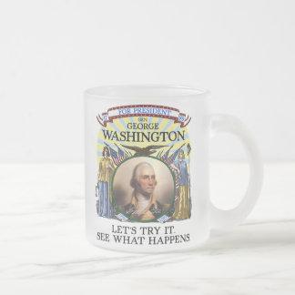George Washington-Wahl Stein Matte Glastasse