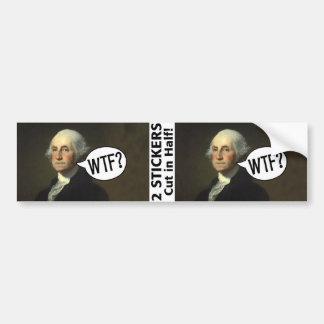 George Washington WTF - 2 Aufkleber Autoaufkleber