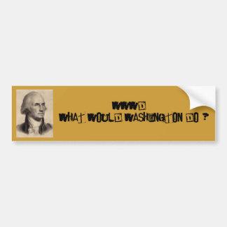 George Washington, WWWD Autoaufkleber