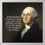 George Washington-Zitat auf Redefreiheit Posterdrucke