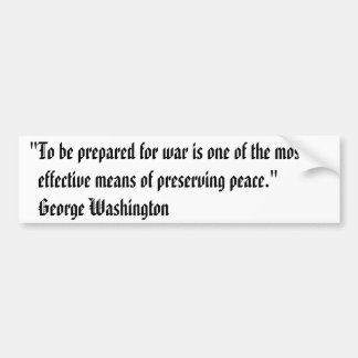 George- WashingtonAutoaufkleber - Krieg Autoaufkleber