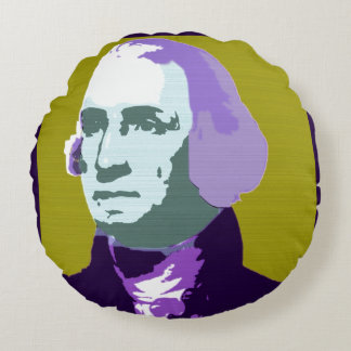 George- WashingtonPop-Kunst-Nr. 1 Rundes Kissen