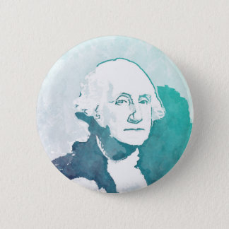 George- WashingtonPop-Kunst-Porträt Runder Button 5,7 Cm