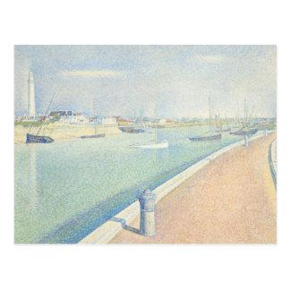 Georges Seurat - der Kanal von Gravelines Postkarte