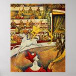 Georges Seurat - Der Zirkus - Zirkus-Plakat