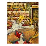Georges Seurat - Der Zirkus - Zirkus Postkarten
