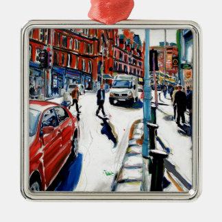 Georgesst. Dublin Quadratisches Silberfarbenes Ornament