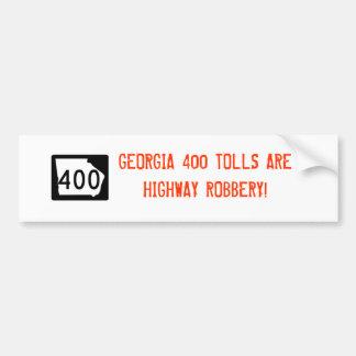 "Georgia 400"" Landstraßen-Raub-"" Autoaufkleber"