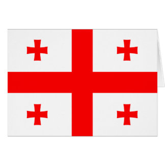 Georgia-Flagge Mitteilungskarte