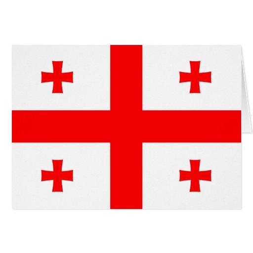 Georgia-Flagge Karten