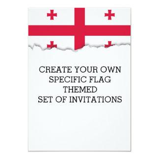 Georgia-Flagge Karte